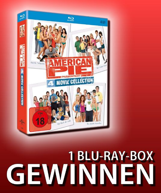 Verlosung: AMERICAN PIE PRÄSENTIERT – 4 MOVIE COLLECTION